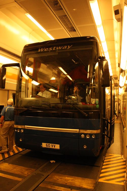 Bus in transport train