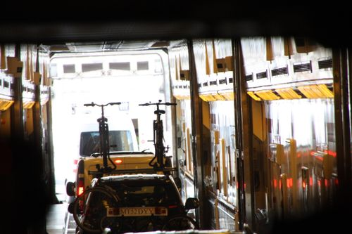 Driving out of the transport train