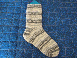 My_first_finished_sock