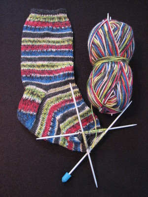 Striped_sock_almost_done