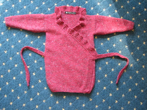Frilled Edge Crossover Sweater